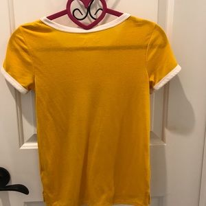 Girls yellow shirt/top by: mudd size 7/8